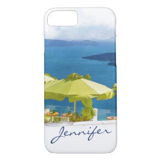 Funda Para iPhone 8/7 Pintura de Santorini Grecia
