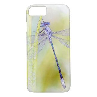 Funda Para iPhone 8/7 Pintura púrpura de la acuarela de la libélula