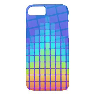 Funda Para iPhone 8/7 Pirámide coloreada arco iris de rectángulos