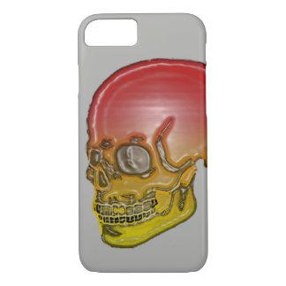 Funda Para iPhone 8/7 ¡Plata roja y amarilla del cráneo!