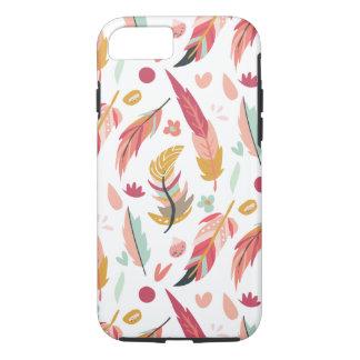 Funda Para iPhone 8/7 Plumas intrépidas y coloridas de Boho