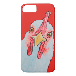 Funda Para iPhone 8/7 Pollo enojado en rojo