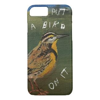 Funda Para iPhone 8/7 Ponga un pájaro en él caso de 2 células