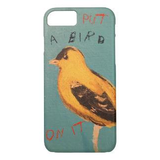 Funda Para iPhone 8/7 Ponga un pájaro en él caso de la célula