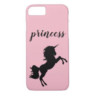 Funda Para iPhone 8/7 Princesa Unicorn Phone Case, rosado