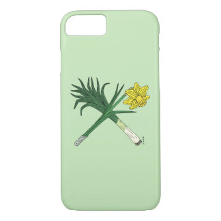 Funda Para iPhone 8/7 Puerro y narciso cruzados
