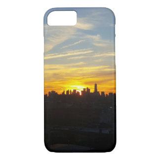 Funda Para iPhone 8/7 Puesta del sol sobre el caso del iphone de la