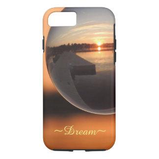 Funda Para iPhone 8/7 Puesta del sol sobre la bola de cristal del agua -