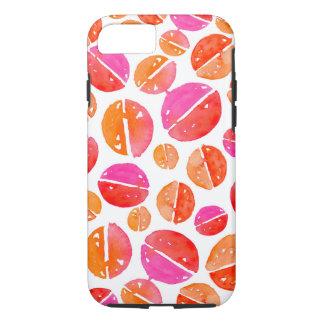 Funda Para iPhone 8/7 Puntos de la acuarela en caja roja, rosada,