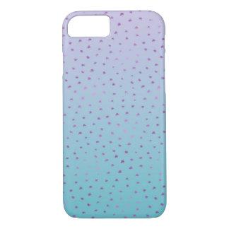 Funda Para iPhone 8/7 Puntos púrpuras del confeti de Ombre de la