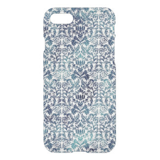 Funda Para iPhone 8/7 Púrpura azul apenada damasco del dril de algodón