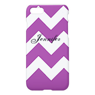 Funda Para iPhone 8/7 púrpura de Chevron del iPhone 7