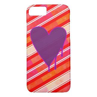 Funda Para iPhone 8/7 Púrpura de fusión del corazón