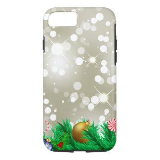 Funda Para iPhone 8/7 Purpurina del ornamento del navidad