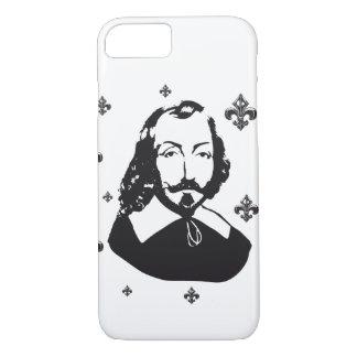 Funda Para iPhone 8/7 Quebec Samuel de Champlain 1608 Flor de lis antiq