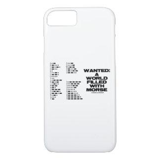 Funda Para iPhone 8/7 Querido: Un mundo llenado de humor del código del