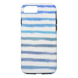 Funda Para iPhone 8/7 Rayas azules de la acuarela