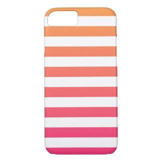 Funda Para iPhone 8/7 Rayas blancas rosadas anaranjadas de muy buen