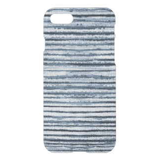 Funda Para iPhone 8/7 Rayas de la cebra de la acuarela en azul