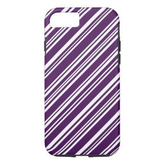 Funda Para iPhone 8/7 Rayas púrpuras y blancas del caramelo
