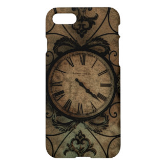 Funda Para iPhone 8/7 Reloj de pared antiguo gótico del vintage