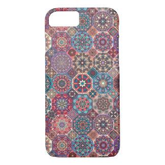 Funda Para iPhone 8/7 Remiendo del vintage con los elementos florales de
