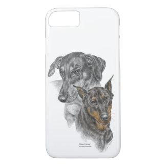 Funda Para iPhone 8/7 Retrato de dos Dobermans para las llaves