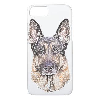Funda Para iPhone 8/7 Retrato de un bosquejo coloreado del perro de
