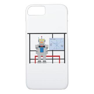 Funda Para iPhone 8/7 Robot en una parada de autobús