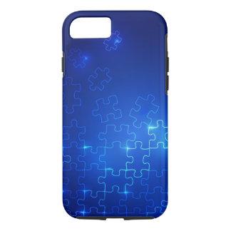 Funda Para iPhone 8/7 Rompecabezas azul que brilla intensamente del caso