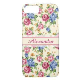 Funda Para iPhone 8/7 Rosa romántico en colores pastel del flor, rojo,