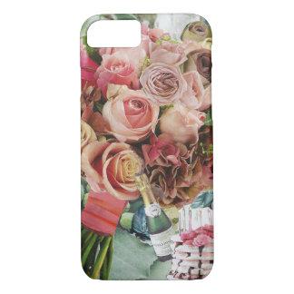 Funda Para iPhone 8/7 Rosas coralinos en verde brumoso
