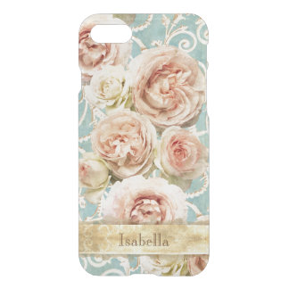 Funda Para iPhone 8/7 Rosas de la herencia con el damasco personalizado
