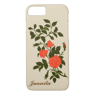 Funda Para iPhone 8/7 Rosas ornamentales coloreados coral de color