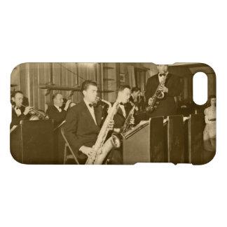 Funda Para iPhone 8/7 Saxofón del big band de la foto del vintage