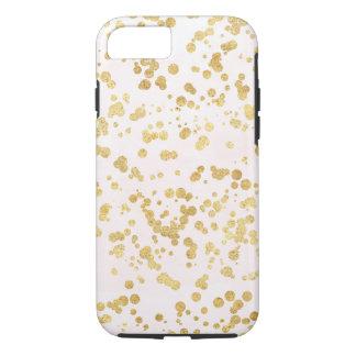 Funda Para iPhone 8/7 Se ruboriza el Glitz rosado del confeti del oro