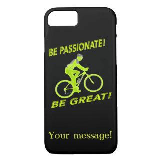 Funda Para iPhone 8/7 ¡Sea apasionado! ¡Sea grande! Verde del motorista