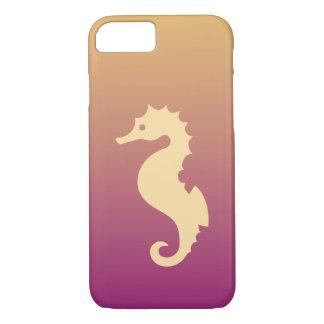Funda Para iPhone 8/7 Seahorse beige en pendiente beige y púrpura