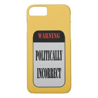 Funda Para iPhone 8/7 Señal de peligro político incorrecta