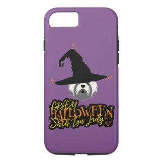 Funda Para iPhone 8/7 Señora loca Shih Tzu Mom de Halloween Shih Tzu