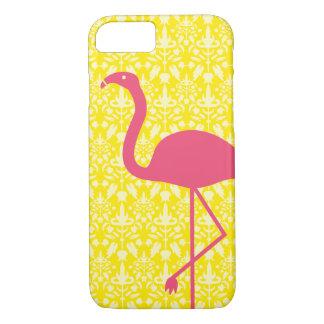 Funda Para iPhone 8/7 Silueta rosada del flamenco en amarillo