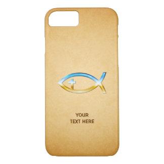 Funda Para iPhone 8/7 Símbolo cristiano de los pescados en papirus del
