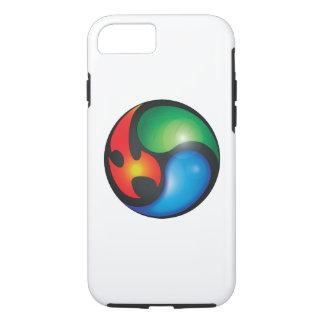 Funda Para iPhone 8/7 Símbolo de Yin Yan de los elementos del zen