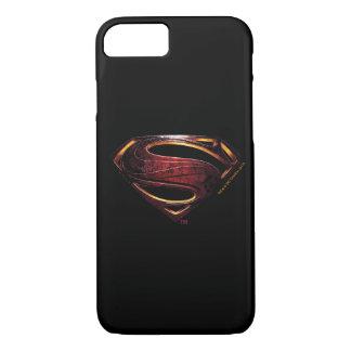 Funda Para iPhone 8/7 Símbolo metálico del superhombre de la liga de