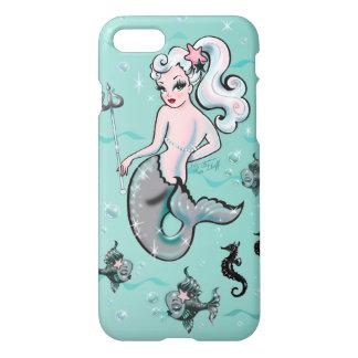 Funda Para iPhone 8/7 Sirena de Pearla que mira detrás la caja del