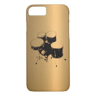 Funda Para iPhone 8/7 Sistema de efecto de cobre de bronce de los