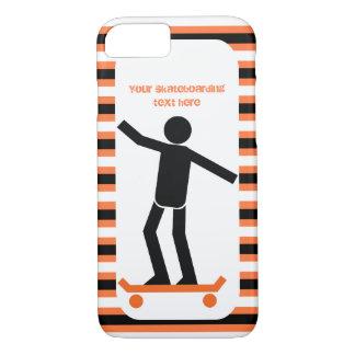 Funda Para iPhone 8/7 Skater en su monopatín y rayas