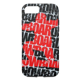 Funda Para iPhone 8/7 Snowboard #1 (negro)