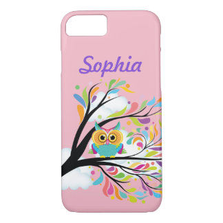Funda Para iPhone 8/7 Su cubierta protectora del búho colorido conocido