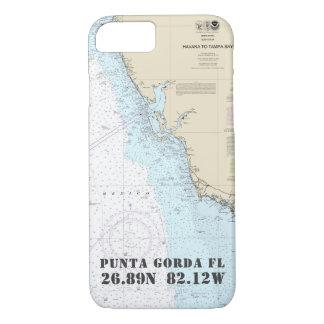Funda Para iPhone 8/7 Su longitud de la latitud de la ciudad de la Costa
